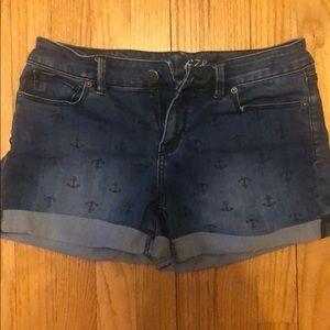 Anchor denim shorts